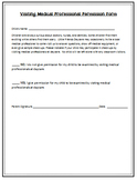 Visiting Medical Professional Permission Form - Childcare