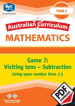 Visiting tens – Subtraction – Using open number lines – Year 1