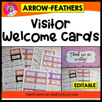 Visitor Welcome Cards-  (Arrows & Feathers)