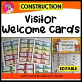 Visitor Welcome Cards- (Construction Theme)