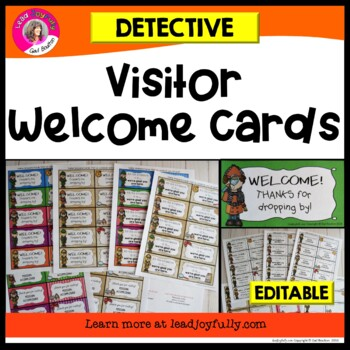 Visitor Welcome Cards- (Detective Theme)