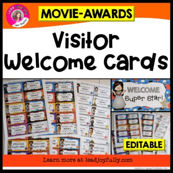 Visitor Welcome Cards- (Movie Star/Awards Theme)