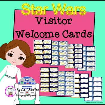 Visitor Welcome Cards- STAR WARS Inspired Theme