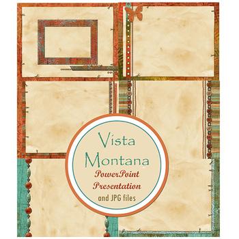 Vista Montana PowerPoint Presentation and Printable Digital Paper - 12 Slides