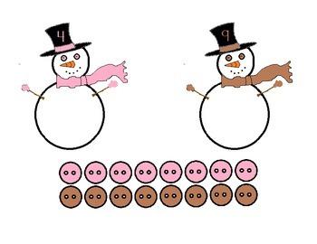Vistiendo a muñecos de nieve