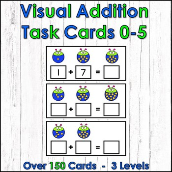 Visual Addition Task Cards 0-5