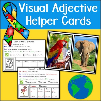 Visual Adjective Helper Cards {UK Teaching Resources}