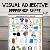Visual Adjective Sheet