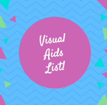 Visual Aid List for Oral Presentations