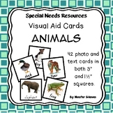 Visual Aid Photo Cards (PECS) - Animals