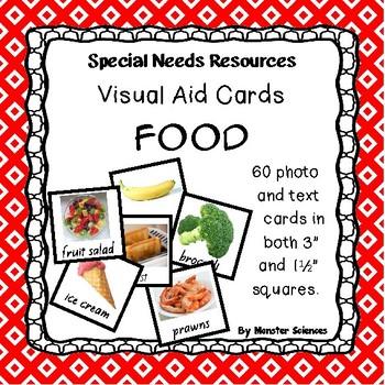 Visual Aid Photo Cards (PECS) - Food