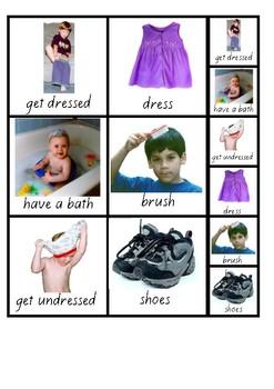 Visual Aid Photo Cards (PECS) - Getting Ready