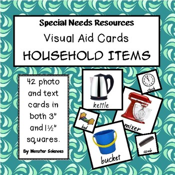 Visual Aid Photo Cards (PECS) - Household Items