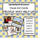 Visual Aid Photo Cards (PECS) - People Who Help Us