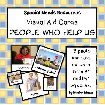 Visual Aid Photo Cards (PECS) - People Who Help Us