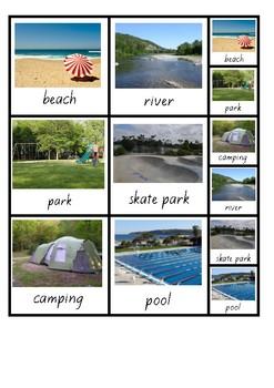 Visual Aid Photo Cards (PECS) - Places We Go