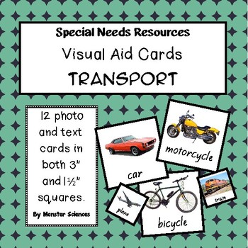 Visual Aid Photo Cards (PECS) - Transport