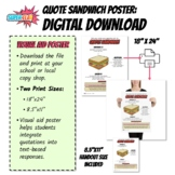 Visual Aid Poster: The Quote Sandwich (8.5''x11'' and 18''x24'')