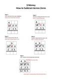 Visual Aid for Subtracting Money Across Zeros (3 digit)