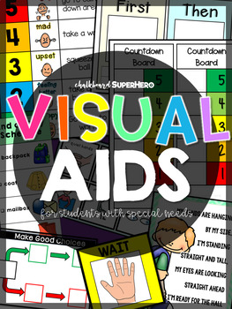 Visual Aids Special Education By Chalkboard Superhero Tpt