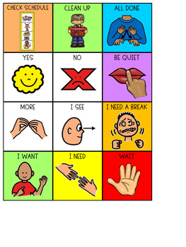 Visual Aids {visual supports for special education}