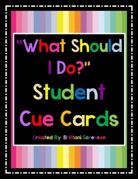 """Visual Aides to Minimize """"What Should I Do?"""" Questions in the Classroom"""