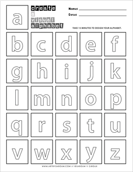 Visual Alphabet Drawing and Flash Cards