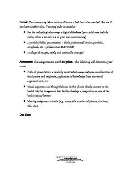 Visual Arguments:  Common Core Activity