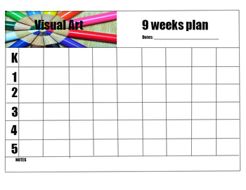 Visual Art 9 weeks Planning Template