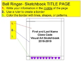 Visual Art Bell Ringer Sketchbook Title Page