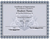 Visual Art Certificate of Appreciation