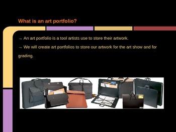 Visual Art Class Portfolio Lesson PowerPoint