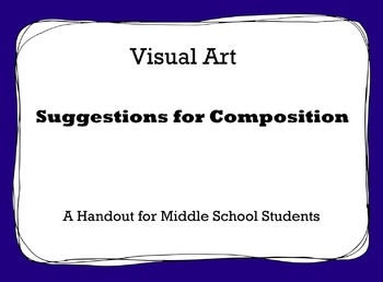 Visual Art Composition Handout