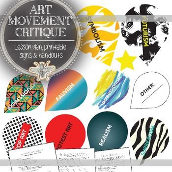 Visual Art Critique with Art History: Art Movement Research & Critique Activity