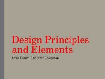 Visual Art - Design Principles and Elements Power Point Pr