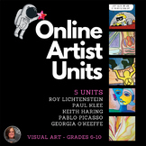 *Visual Art Distance Learning Bundle - 5 Units - 5 weeks o