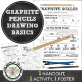 Visual Art Drawing Worksheet and Activity: Learning about Graphite Pencils