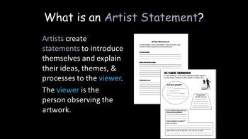 Artist Statements + Exhibit Unit