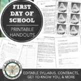 Visual Art First Day of School Bundle Pack: