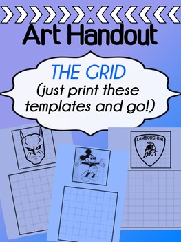 Visual Art - Grid - Gridding Practice Templates