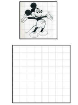 Visual Art - The grid - Gridding Practice Templates