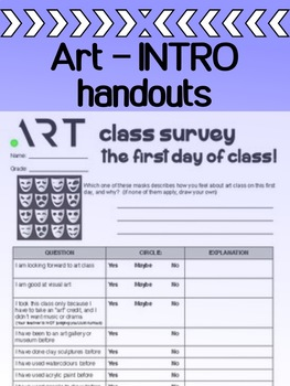 Art - Intro - The First Day Of Class - for high school