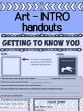 Art - Back To School - The First Day - Getting To Know You Sheet