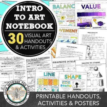 Visual Art Introduction to Art Notebook: Exercises, Handouts, & More