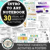 Visual Art Introduction to Art Notebook: Exercises, Handou