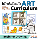 Visual Art Introduction to Drawing Curriculum Bundle for H