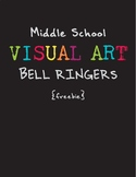 Visual Art Middle School Bell Ringers Freebie First Day Week Drawing Art History