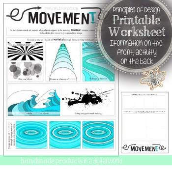 Movement, Principles of Design Visual Art Mini Lesson: HS and MS Art