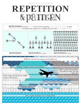 Visual Art Minilesson: Principle of Design, Repetition and Pattern, Worksheet