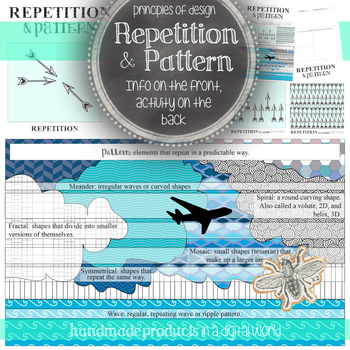 Repetition and Pattern: Principles of Design Visual Art In Class Activity